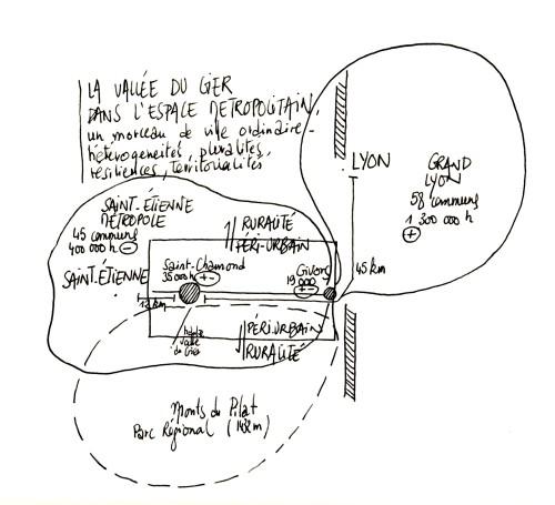 La Vallée du Gier dans l'espace métropolitain